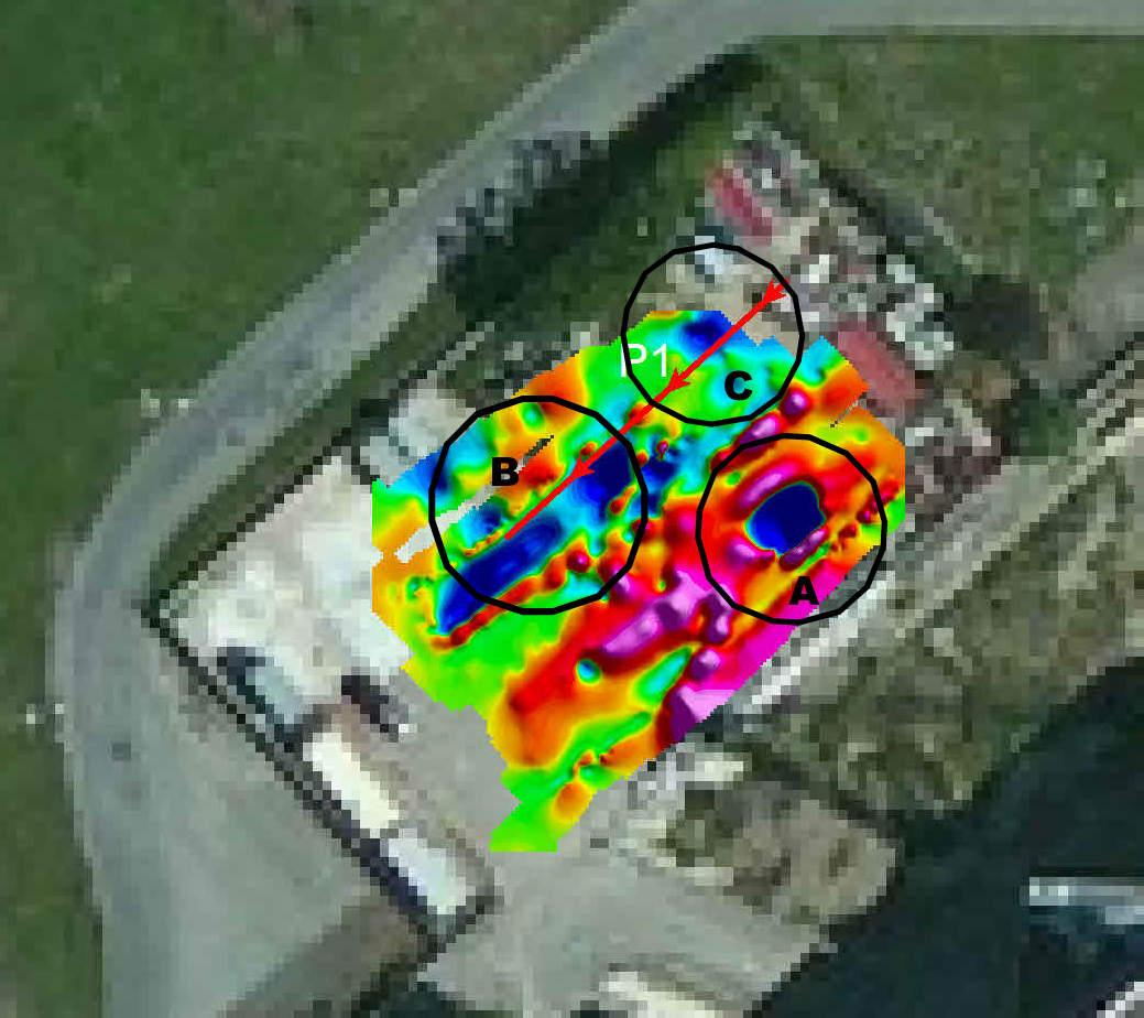 individuazione di anomalie nel sottosuolo con il metodo elettromagnetico associato a quello geoelettrico