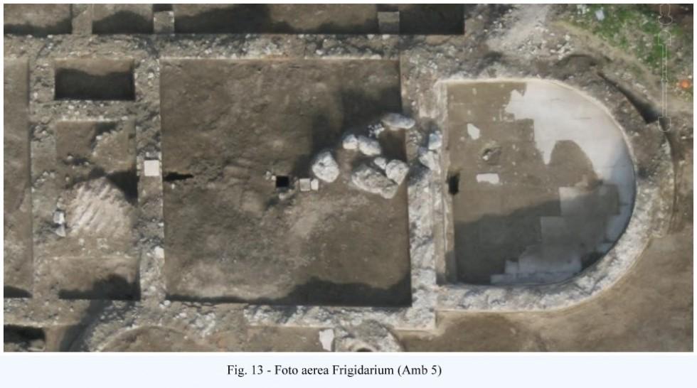 Fig. 13 - Foto aerea Frigidarium (Amb 5)