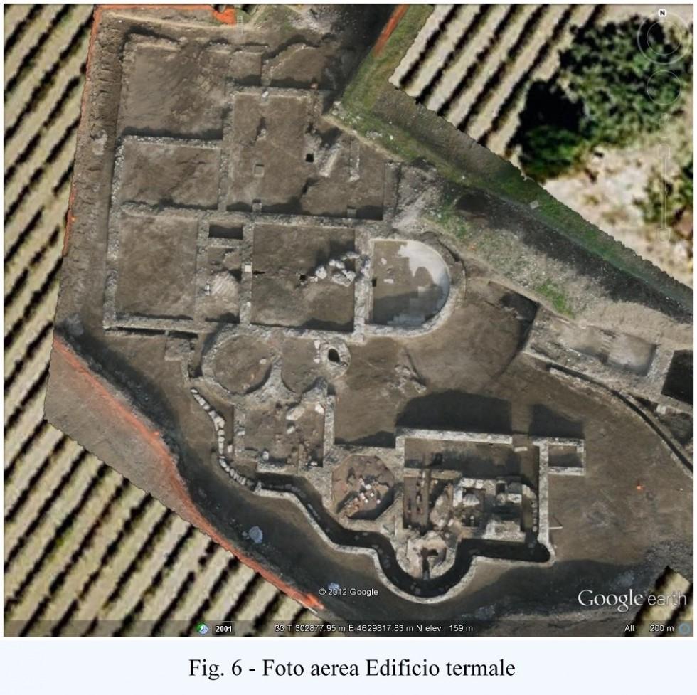 Fig. 6 - Foto aerea Edificio termale